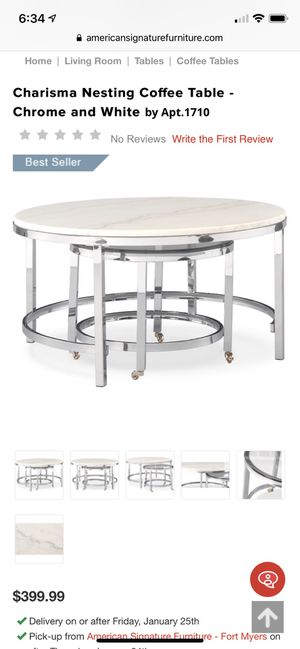 American Signature Coffee Table for Sale in Tampa, FL