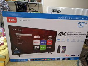 TCL 55 inch tv 4k for Sale in Cypress, CA