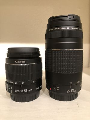 Brand New Canon Lenses: 18-55mm and 75-300mm for Sale in Marysville, WA