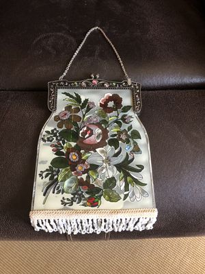 Amia Studios Flower Beaded Purse Shaped Sun Catcher Stained Glass for Sale in Lima, OH