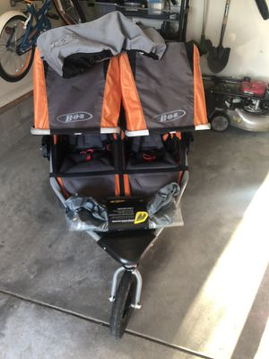 BOB Flex Double Stroller with removable front wheel, full stroller sun shield, full stroller weather shield for Sale in New Albany, OH