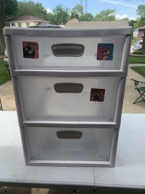 3 tier plastic drawer storage compartment for Sale in Aurora, IL