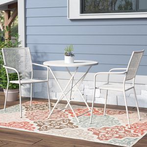 3 Piece Dining Set in White Home Patio Garden Furniture Decor for Sale in Los Angeles, CA