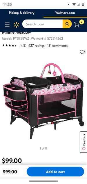 Minnie mouse playpin, bassinet, changing table for Sale in Ocala, FL