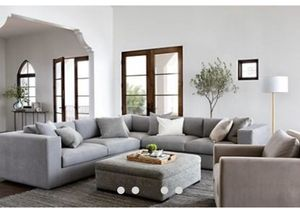 Gray sectional and ottoman Nate and Jeremiah collection for Sale in Mesa, AZ