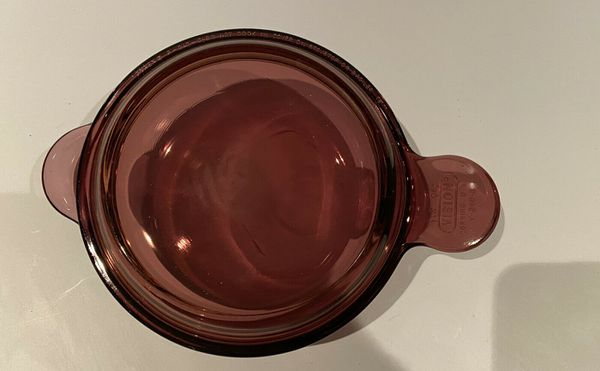 Vision Ware Cranberry LARGE NON TOXIC Grab It 24oz bowl 240B With 240C Lid