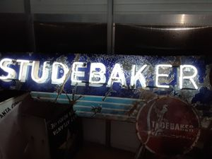 Studebaker Porcelain Neon dealership sign for Sale in Westerville, OH