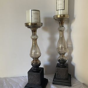 """Set of 2 Candle Holders Only Size 14 1/2"""" and 16 1/2"""" Tall for Sale in Garden Grove, CA"""