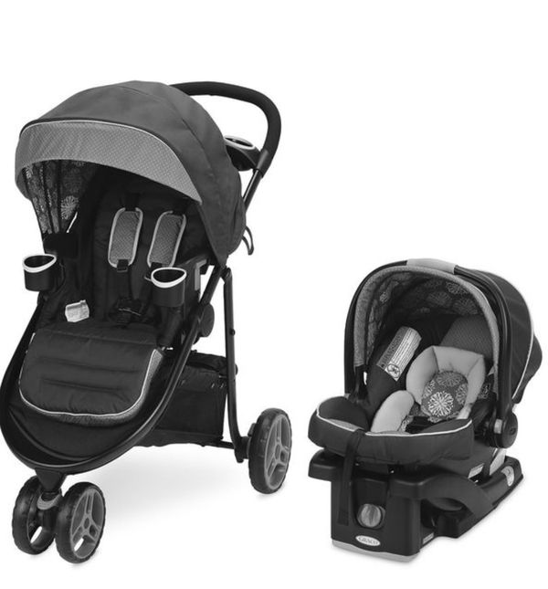 Graco baby 3 lite mode stroller with car seat