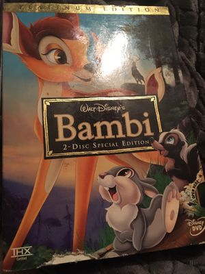 Bambi platinum edition dvd for Sale in Joelton, TN