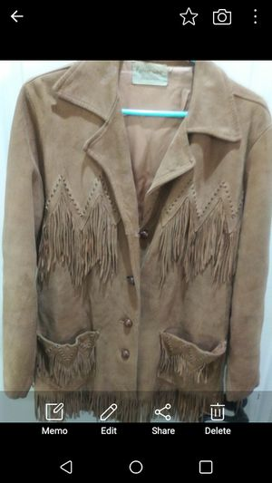 Pioneer Wear vintage women's suede leather jacket for Sale in Happy Valley, OR