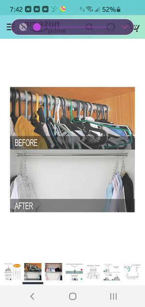 SET OF 12 MAGIC HANGERS AND 2 TANK TOP HANGERS for Sale in Seattle, WA