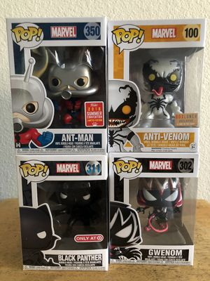 Funko Pop! Marvel Anti Venom & Gwenom Lot of 4 for Sale in Cypress, CA
