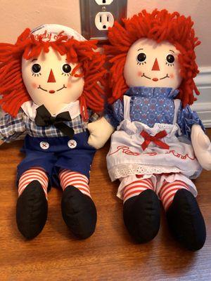 Brand New Raggedy Ann & Andy Stuffed Animal Dolls for Sale in Everett, WA