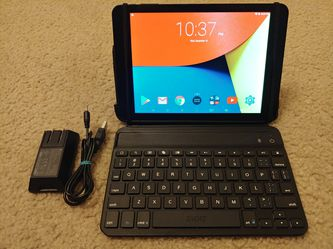 "7.9"" Touchscreen Tablet + iPad Mini Zagg Bluetooth Keyboard (Laptop/Tablet 16gb Nuvision) for Sale in Kirkland,  WA"