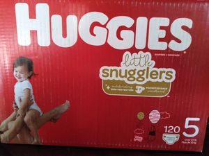 Huggies diapers size 5 for Sale in Highland, CA