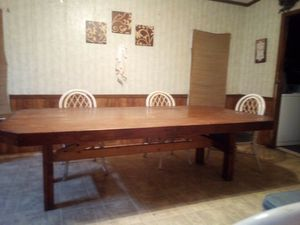 CUSTOM made wood kitchen table for Sale in Elberta, AL