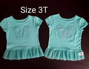 Set of two Tee Tshirt Twin Girls Size 3T New for Sale in Phoenix, AZ