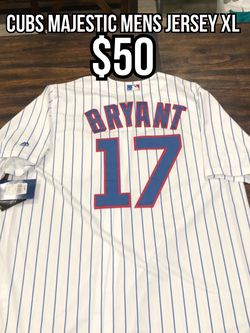 MLB Majestic Chicago Cubs White Pin Stripe #17 Chris Bryant Men's Jersey Xl for Sale in La Puente,  CA