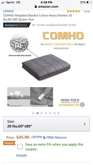 Comho weighted Queen Size Weighted Blanket for Sale in Alta Loma, CA