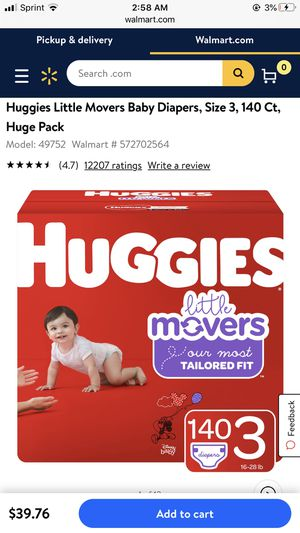 Huggies Little Movers Diapers size 3 for Sale in San Diego, CA