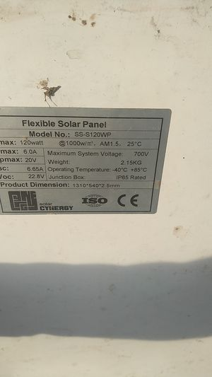 Flexible solar panels 120w marine for Sale in Portland, OR