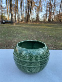 Hunter Green Dotted With Leaves Flower Pot for Sale in Fairfax,  VA