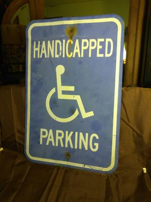 "Retired HANDICAP PARKING SIGN Road Sign Driveway/Garage/Mancave/She Shed 18 x 12"" for Sale in Port Huron, MI"