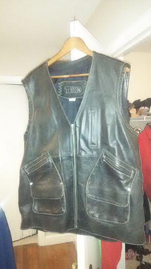 Men's xl leather vest for Sale in Cuba, MO