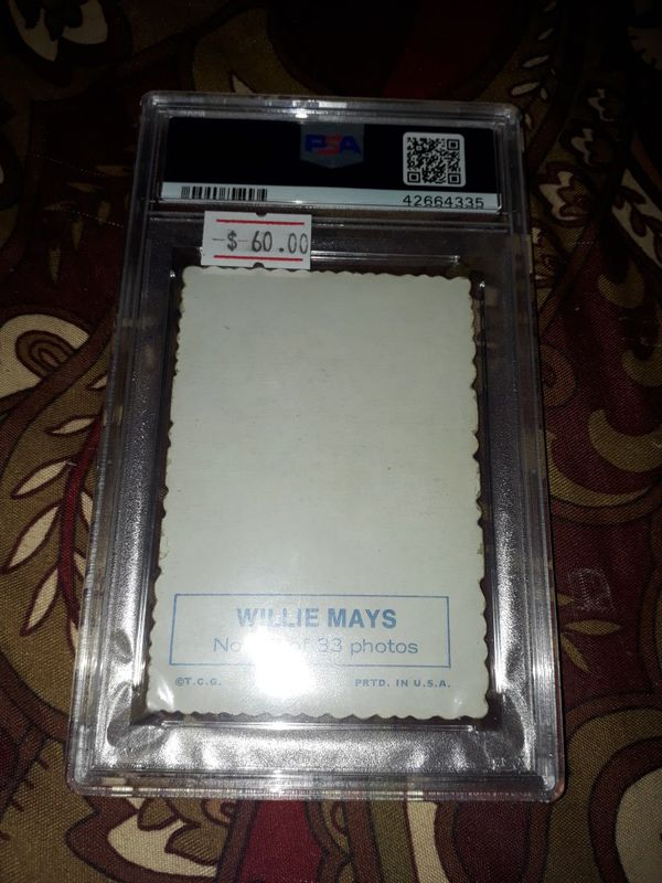 1969 Topps Willie Mays PSA 4.5