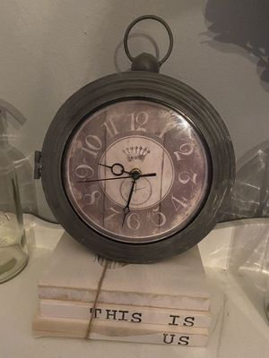 Metal farmhouse clock & thermometer for Sale in Lynnwood, WA