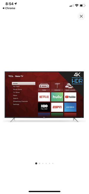 """Like new 65"""" TCL Roku 4K smart tv. $375 firm. for Sale in Deltona, FL"""