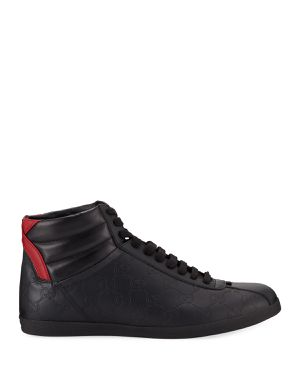 Gucci Men's Bambi GG-Embossed Leather High-Top. SIZE 10.5 for Sale in Torrance, CA