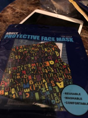 Colorful letter mask for Sale in Parkville, MD