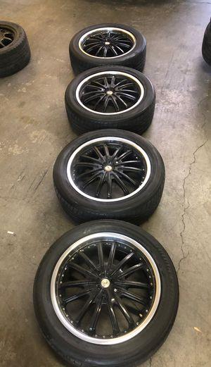 "Bridgestone Potenza 225/50/18 94w tires on 18""x 7 1/2 Universal Rims. for Sale in Las Vegas, NV"