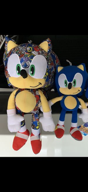 Sonic Plush set of 2 brand new with tags for Sale in Corona, CA