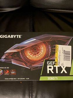 GIGABYTE GeForce RTX 3060 Ti GAMING OC PRO 8GB GDDR6 Graphics Card NEW for Sale in Santa Ana,  CA