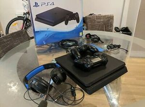 PS4 console with games and controllers with full accessories for Sale in Shoshoni, WY