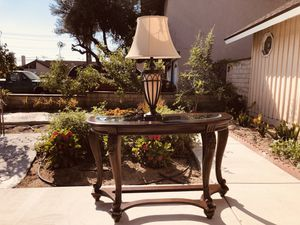 Ashley Furniture Norcastle Half Round Sofa Table for Sale in Cypress, CA