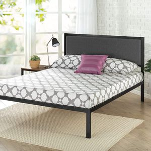Brand New King 14 Inch Platform Zinus Bed Frame with Upholstered Headboard for Sale in Sacramento, CA