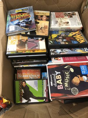Box of DVDs and Player for Sale in Chicago, IL