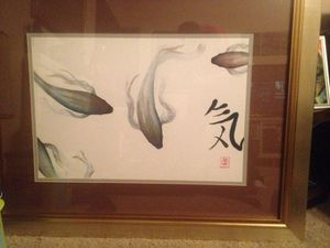Barbara Psimas framed Amanti art abstract for Sale in Houston, TX