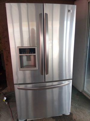 LG Stainless Steel 3 Door Refrigerator for Sale in Denver, CO
