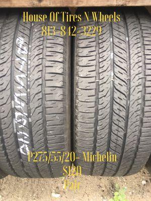 275/55/20- Michelin for Sale in Tampa, FL