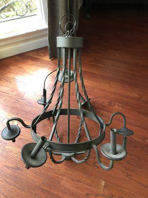 Black metal chandelier for Sale in Los Angeles, CA