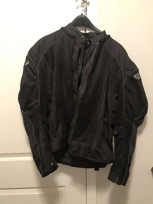 Joe Rocket Mens Black Mesh Motorcycle Jacket Black with padding (size M) for Sale in Lithonia, GA