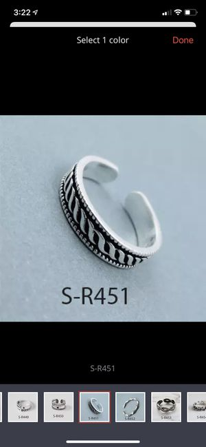 925 Sterling Silver Band /Stackable Ring - adjustable size for Sale in Libertyville, IL