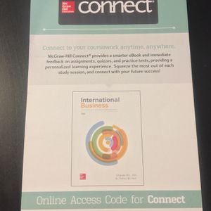 International Business McGraw hill access code for Sale in San Jose, CA