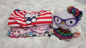 Infants various clothing set with hello kitty plush for Sale in Houston, TX
