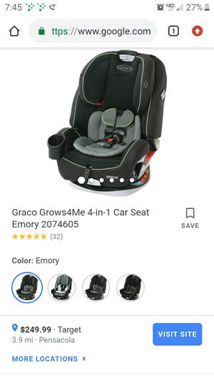 Brand new Graco grow with me 4 in 1 car seat , never been used. for Sale in Pensacola, FL
